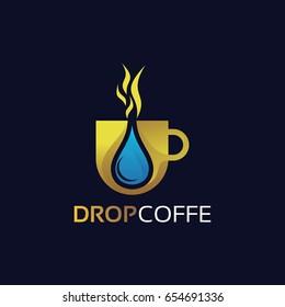 Drop Coffee Logo Template Design