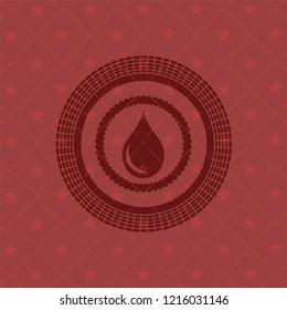 drop icon inside red icon or emblem