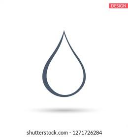 drop icon. Vector  Eps 10