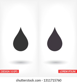 drop icon. Vector  Eps 10