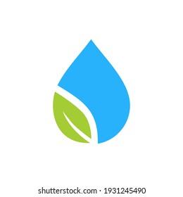 Drop and Leaf Logo Symbol Simple Nature Logo