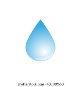 a drop of liquid, vector icon
