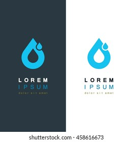 Drop logo template. Vector illustration