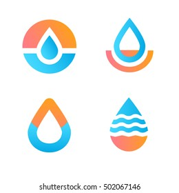 Drop logo.Water icon
