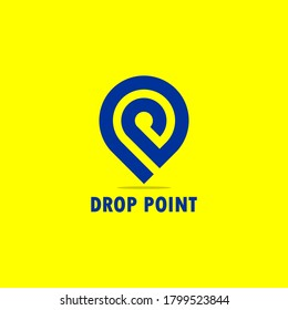 Drop Point Logo, with letter D and P