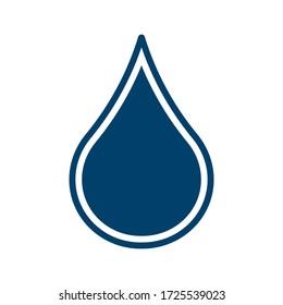 Drop shape icon. Simple shape liquid symbol. Water or oil sign. Rain and leak sign. Aqua logo. Isolated on white background. Vector illustration image.