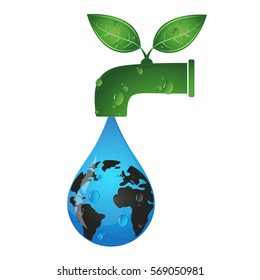 Drop from the tap eco symbol