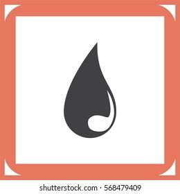 Drop vector icon. Blood sign. Raindrop symbol