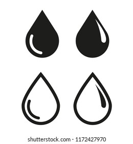Drop Water Icon Vector