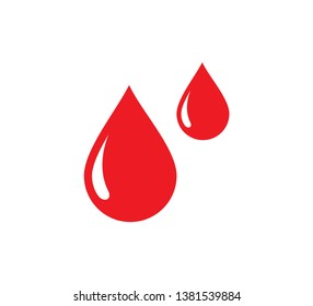 Drop water icon vector logo template flat style ,drop blood icon