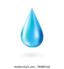 Drop water. Isolated vector decorative element