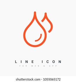 drop water line vector icon