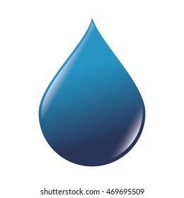 drop water liquid ecology nature ocean sea blue world vector illustration isolated