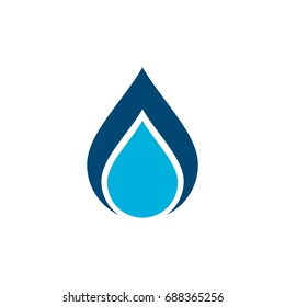 Drop Water Logo Template Illustration Design. Vector EPS 10.
