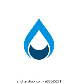 Drop Water Logo Template Illustration Design. Vector EPS 10.
