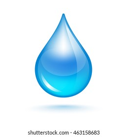 Drop of water, symbol of life and purity
