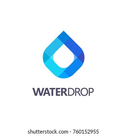 Drop of water vector logo. Clean water, Spa
