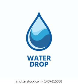Drop of water vector logo design template