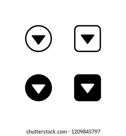 Dropdown Icon Logo Vector Symbol. Down Icon