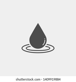 Drope flat vector icon. Water spray flat vector icon. Splash flat vector icon
