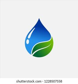 Droplet Leaf Logo