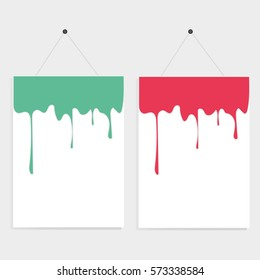 Dropping colorful of poster background, vector.