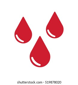 Drops of blood icon. Vector illustration