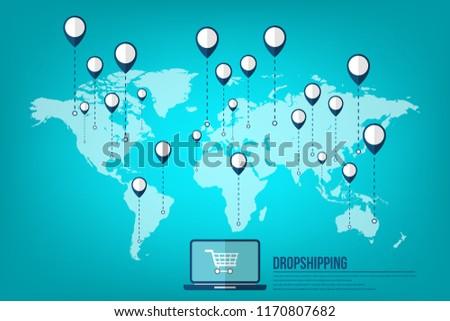 dropshipping-drop-shipping-concept-world