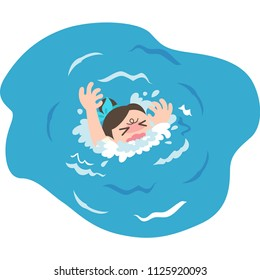 A drowning woman