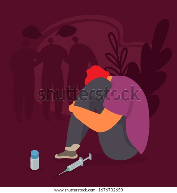 drug addiction vector illustration abused addicted stock vector royalty free 1676702650 shutterstock