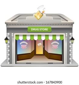 Drug Store icon. Vector illustration. Eps 10.