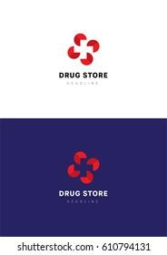 Drug store logo template.