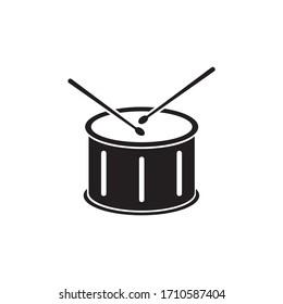 Drum icon design isolated on white background