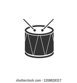 Drum. Icon Flat