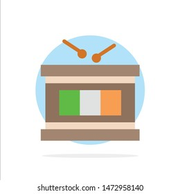 Drum, Instrument, Irish, Parade Abstract Circle Background Flat color Icon