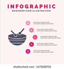 Drum, Instrument, Irish, Parade Solid Icon Infographics 5 Steps Presentation Background