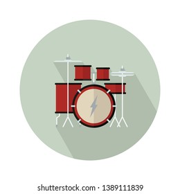 Drum kit vector icon. filled flat sign for mobile concept and web design. Drum set flat icon. Symbol, logo illustration. Pixel perfect vector graphics