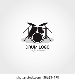 Drum Logo Design Template. Vector Illustration