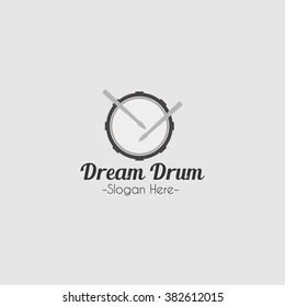 Drum logo icon design template. vector illustration. for business, educational, competition, concert use
