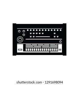 Drum machine flat vector pictogram