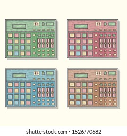 Drum Pad Sequencer in Different Colors