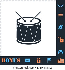Drum. Perfect icon with bonus simple icons