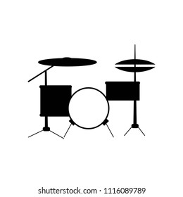 drum set icon vector icon. Simple element illustration. drum set symbol design. Can be used for web and mobile.