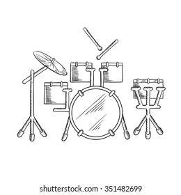 Royalty Free Drum Kit Sketch Images Stock Photos Vectors