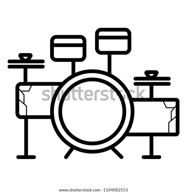 Drum set vector icon