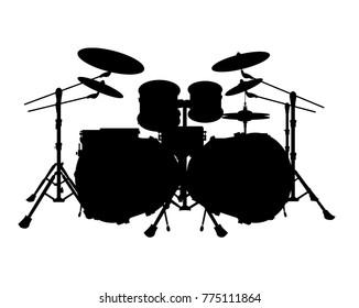 drum set vector silhouette