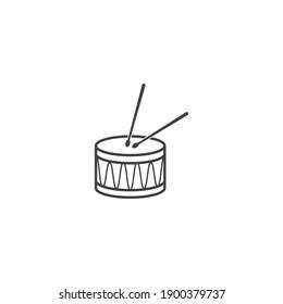 Drum stick icon vector design