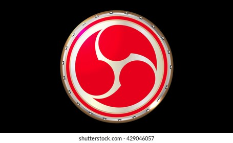 drumhead taiko drum vector on the black background