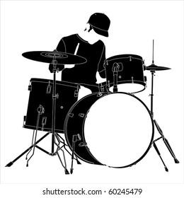 Drummer silhouette.