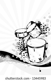 drummers on an abstract background